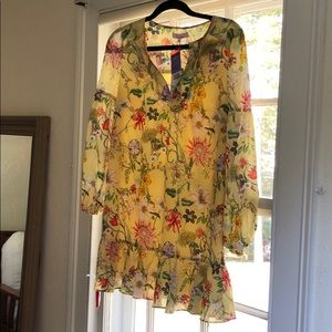 Yellow Floral Parker Mini Dress